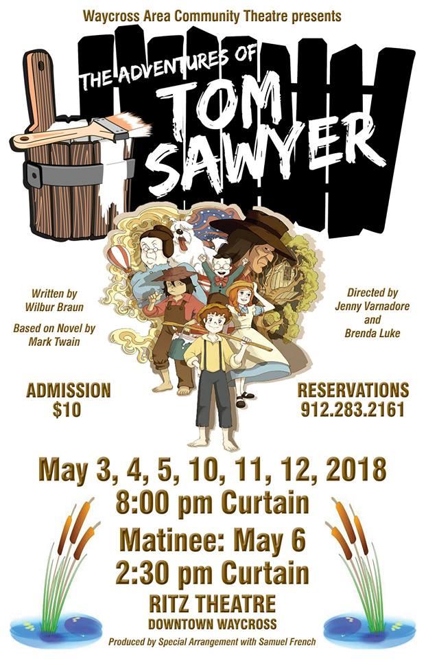 Tom Sawyer @ Ritz Theatre Waycross GA | Waycross | Georgia | United States