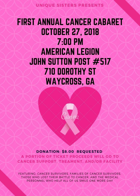 First Annual Cancer Cabaret @ American Legion | Waycross | Georgia | United States