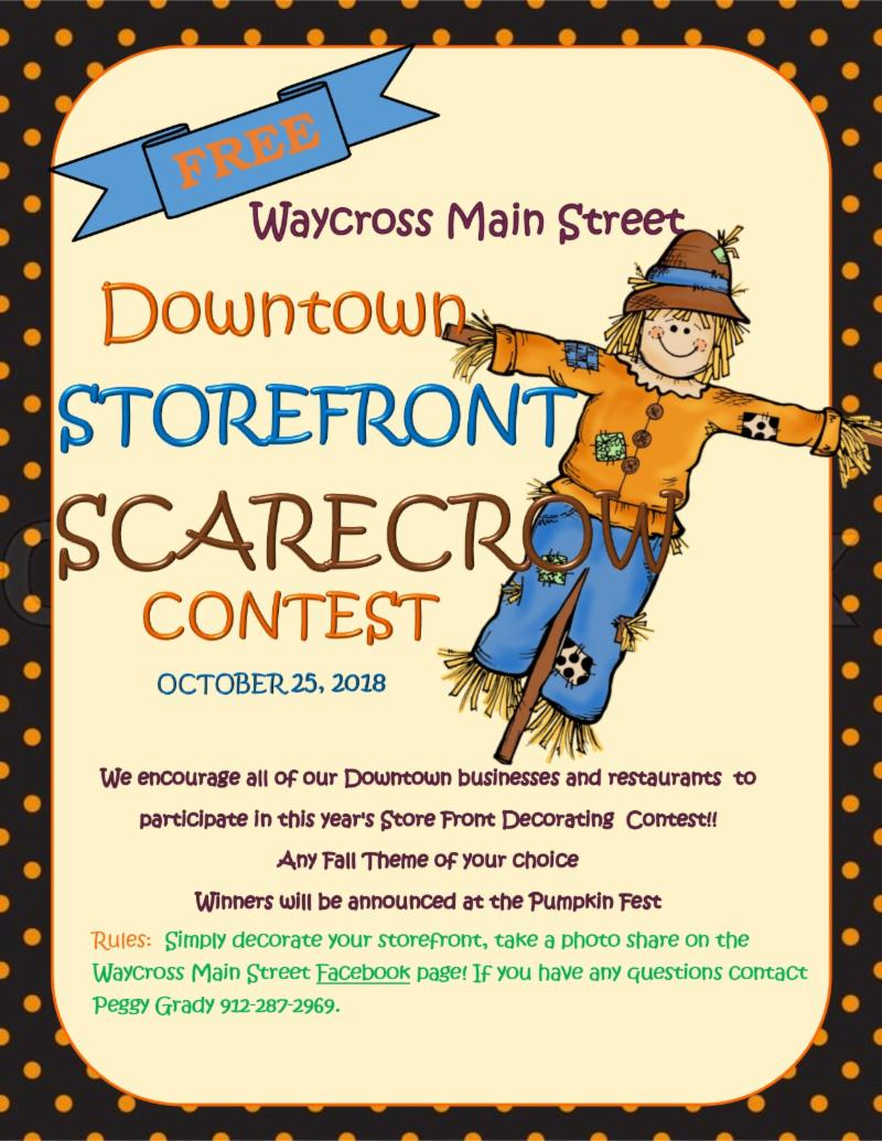 Main Street Storefront Scarecrow Contest @ Downtown Waycross | Waycross | Georgia | United States