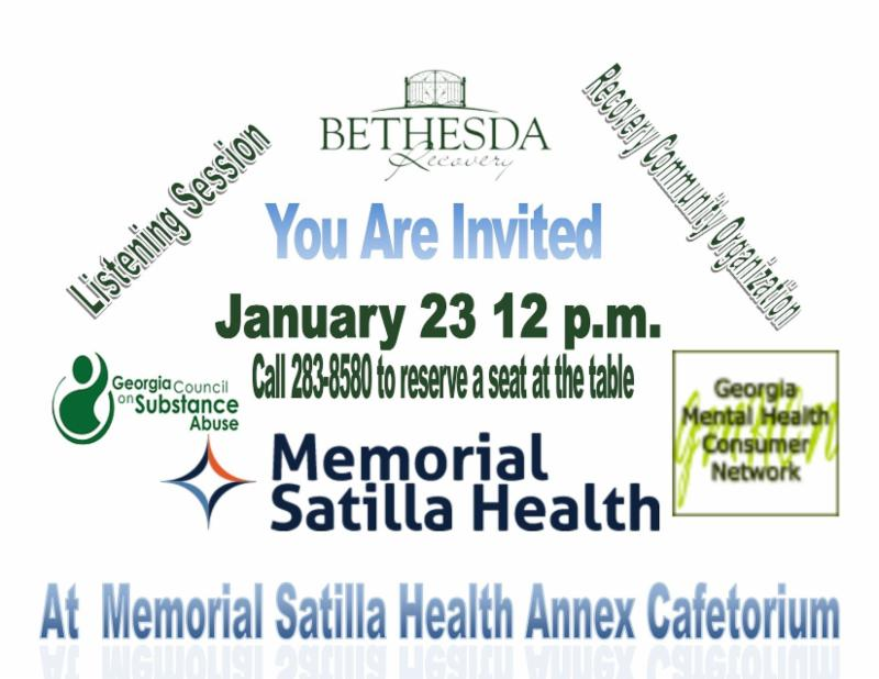 Bethesda Recovery - Listening Session @ Memorial Satilla Health | Waycross | Georgia | United States