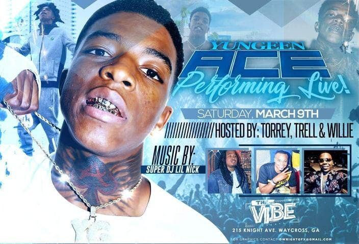 Yugeen Ace Performing Live @ The Vibe | Waycross | Georgia | United States